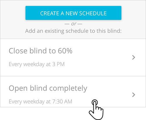 Blue Link how to add schedules to another blind