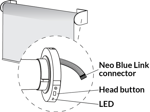 Neo Smart Blinds Bluetooth Motors how to connect the Neo Blue Link