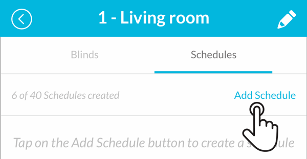 Smart Controller addin a schedule to a room