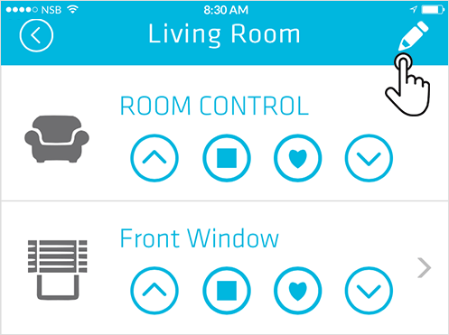 Smart Controller room information page