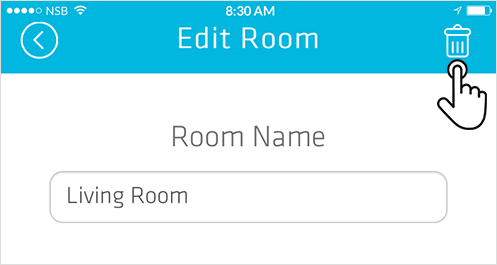 Smart Controller how to delete a room from the app